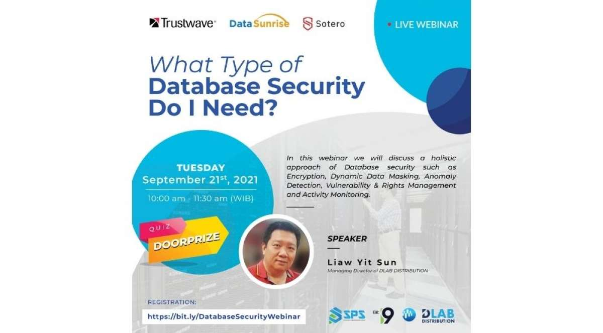 """Free Live Webinar """"What Type of Database Security Do I Need?"""""""