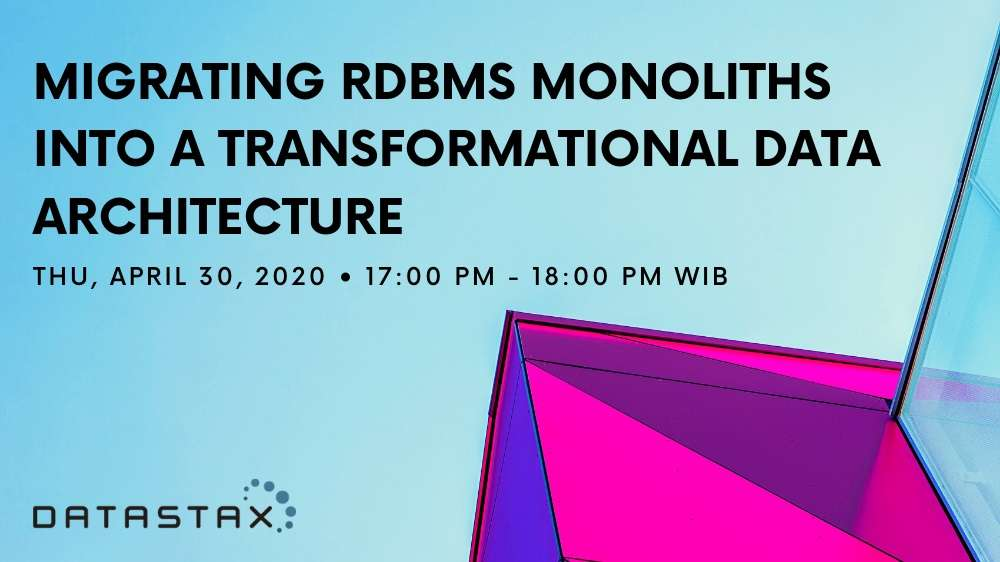 Migrating RDBMS Monoliths Into A Transformational Data Architecture